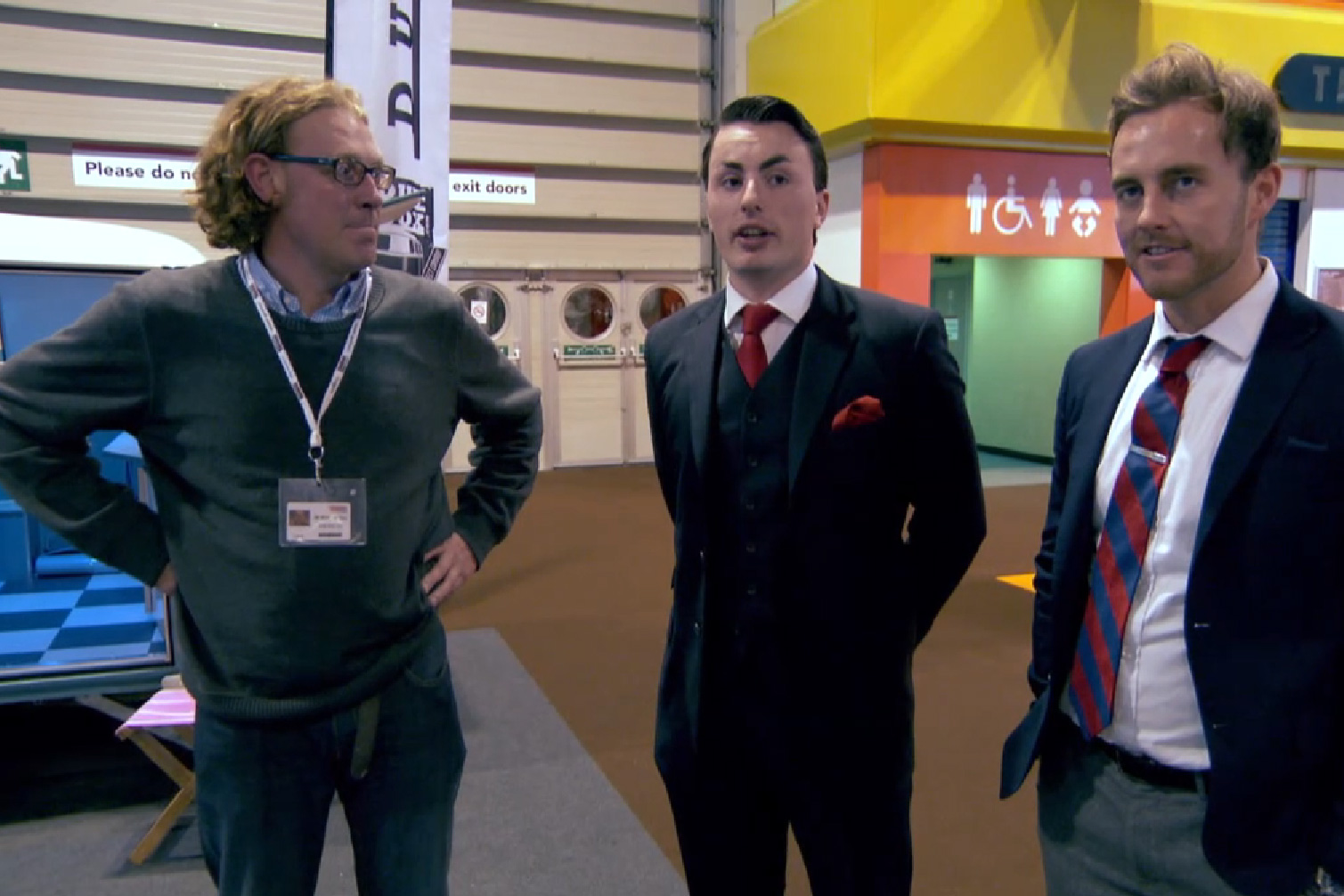 Matt Clay (left) with the BBC Apprentice contestants