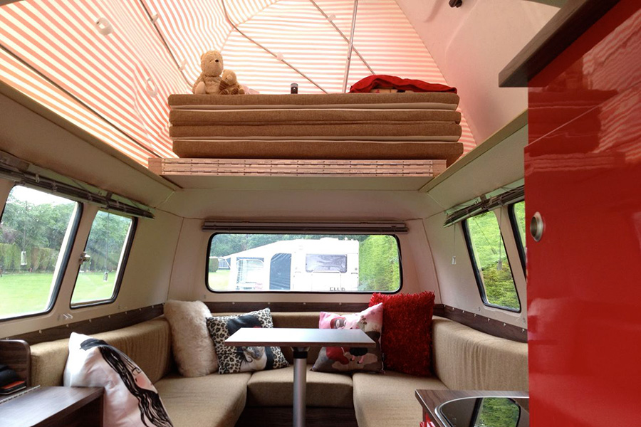 Dormobile Pop-Top Interior (bed boards stowed)